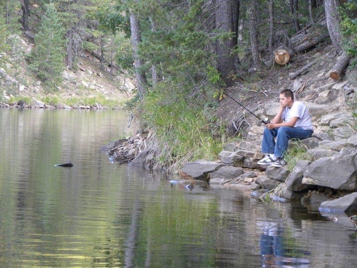 Fishing in Christopher Creek